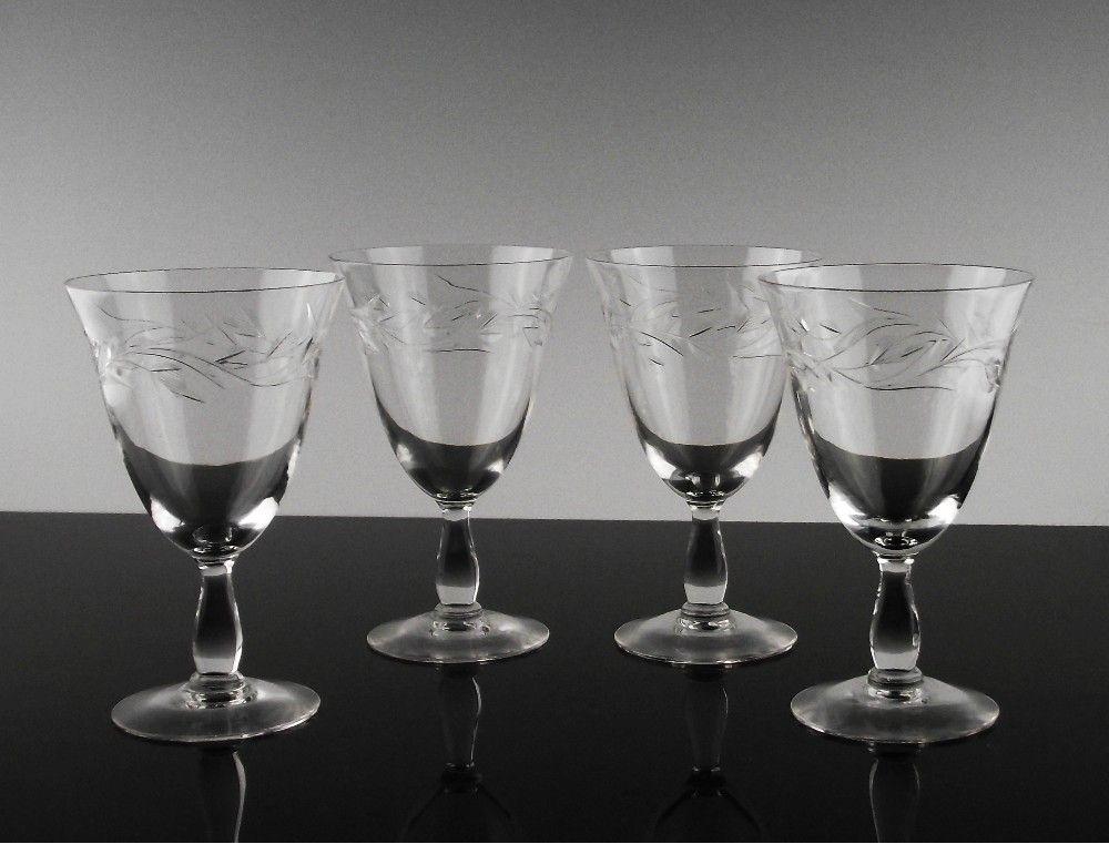 Cambridge Lynbrook Wine Glasses ca 1955-58