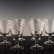 Cambridge Lynbrook Tea Glasses ca 1955-58