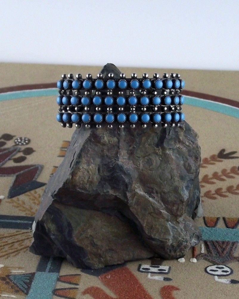 Vintage Zuni Petit Point Bracelet