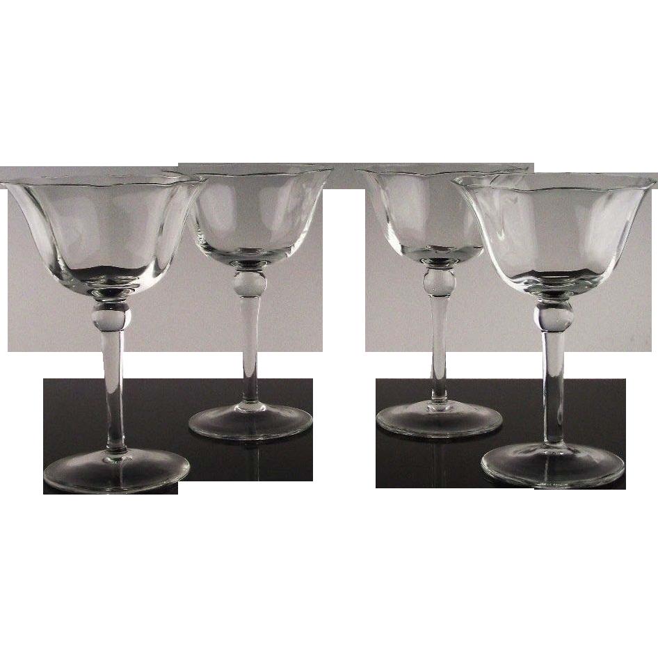 "Set of 4 ""Joy"" Champagne/Champagne Cocktail Glasses"