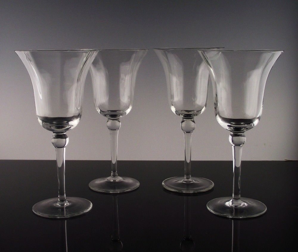 "Set of 4 ""Joy"" Water/Large Wine Glasses"