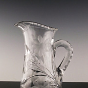 Pairpoint American Brilliant Pitcher in Viscaria Pattern ca 1896-1914