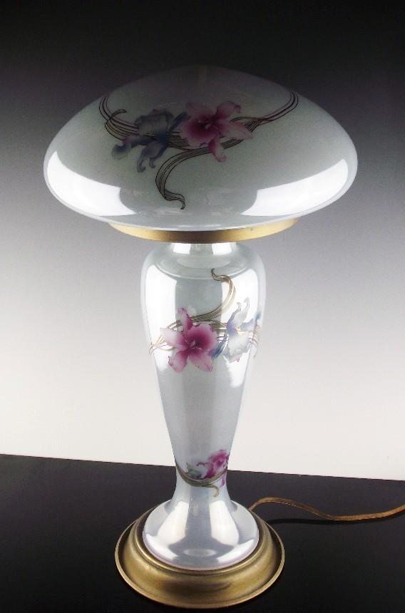 Pearl Finish Mushroom Lamp ca 1930-1940's