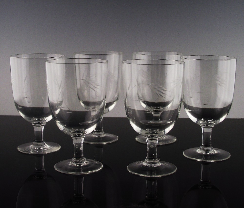 Cut Wheat Water/Large Wine Glasses