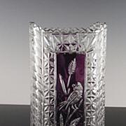 Ruby Accented Hofbauer Byrdes Rectangular Vase