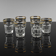 Gold Accented Shot Glasses