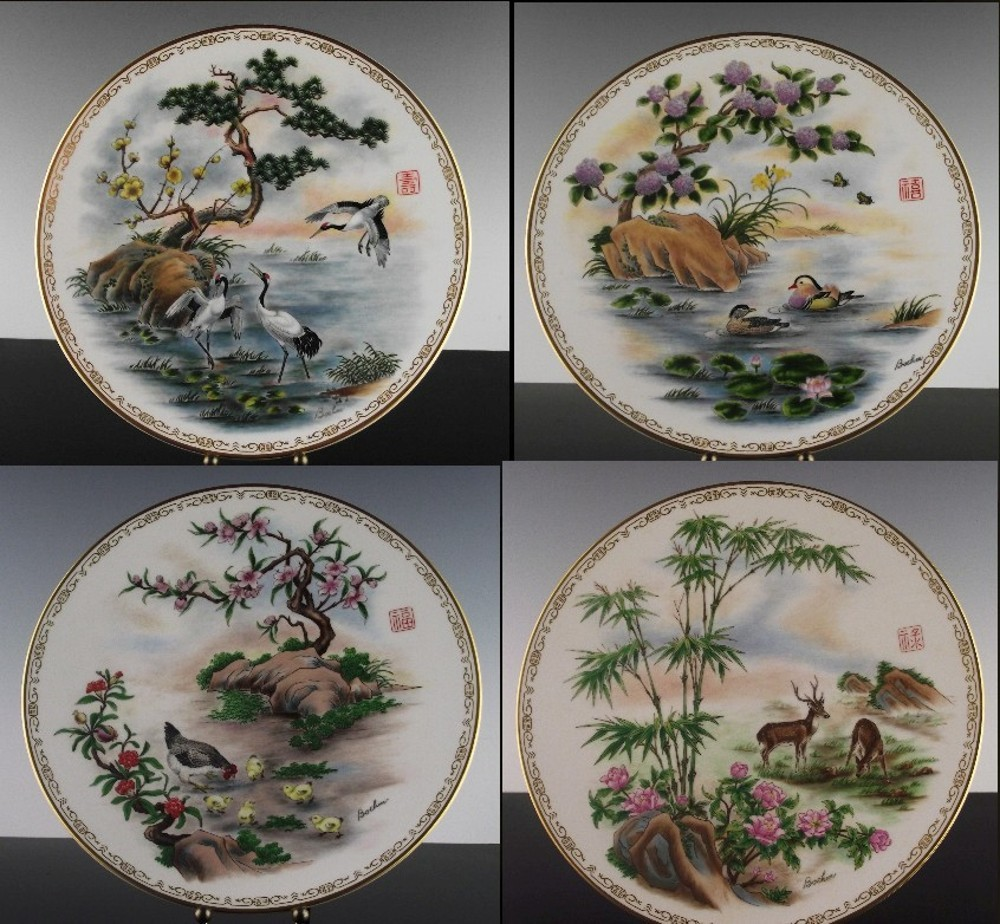 "Complete Collection Boehm ""Life's Best Wishes"" Plates ca 1983"