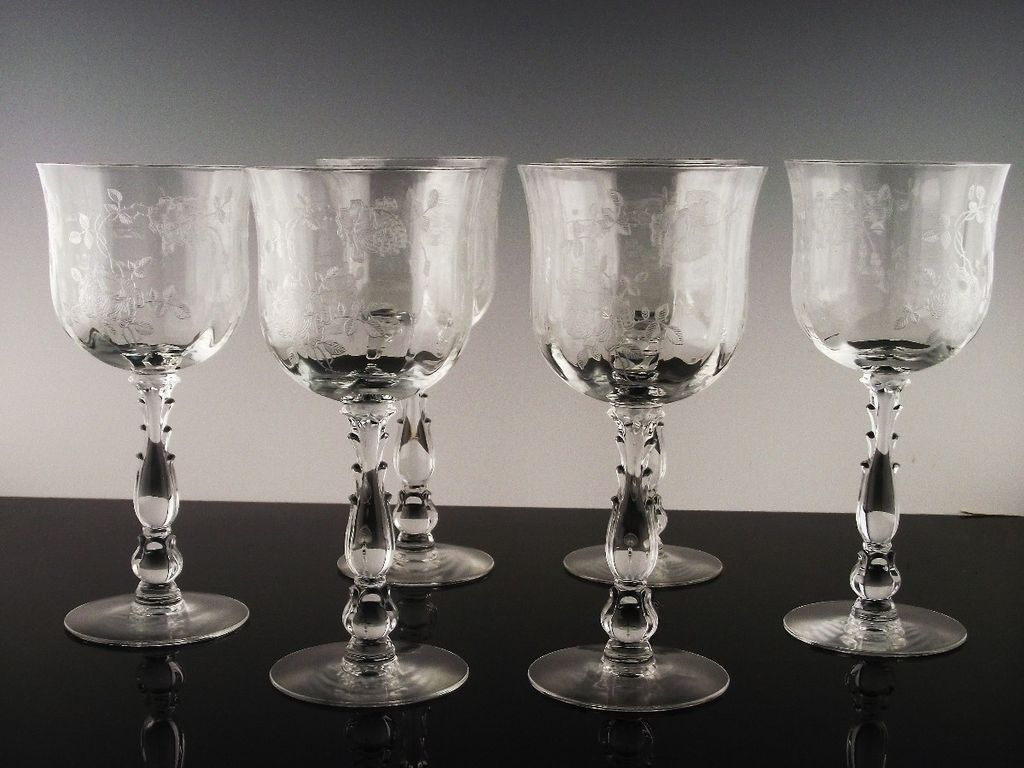"Elegant ""Willowmere"" Water/Large Wine by Fostoria ca 1938-1970"