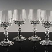 Cut Crystal Wine Glasses by Schott-Zwiesel in Tango Pattern