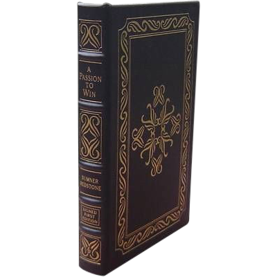 """Signed First Edition """"A Passion To Win"""" Sumner Redstone"""