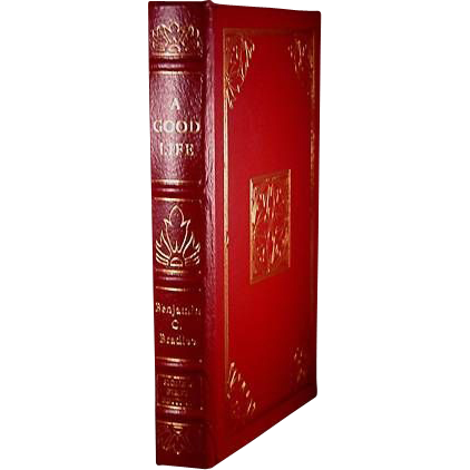 "Easton Press Signed First Edition ""A Good Life"" Benjamin C Bradlee"