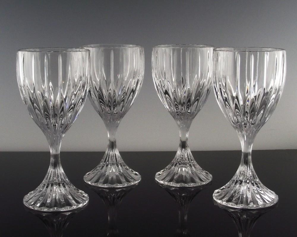 Set of 4 Bretagne Wine Glasses ca 1990's