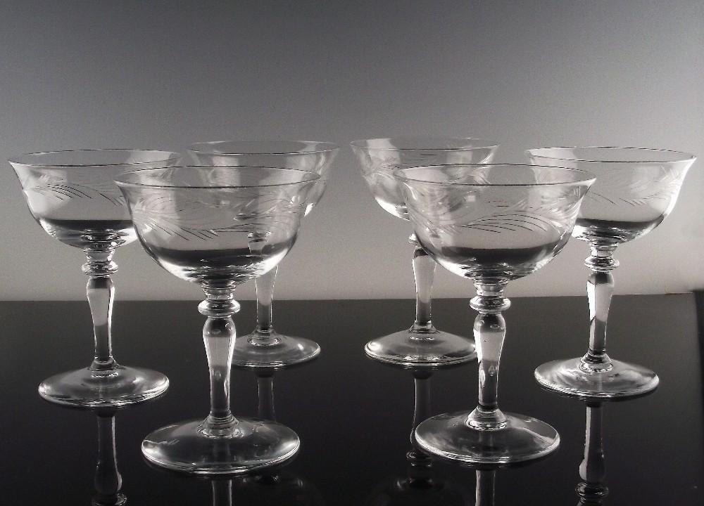 Arcadia Champagne/Champagne Cocktail by Riezart Crystal ca 1953-71