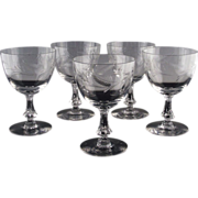 Tiffin Franciscan Water/Large Wine Goblets ca 1948-50's