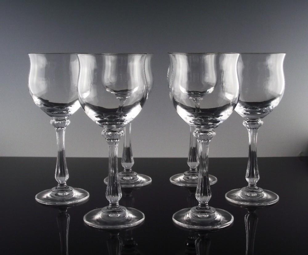 Mikasa Crystal Wine Goblets in Ardmore Pattern ca 1982-93