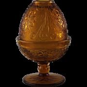 Vintage Tiara Glass Fairy Lamp ca 1970's