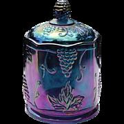 Vintage Harvest Blue Candy Jar ca 1970's