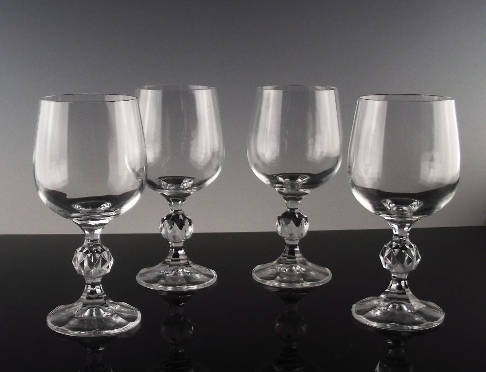 "Bohemian Crystal ""Claudia"" Wine Goblets"