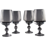 """Bohemian Crystal """"Claudia"""" Water/Large Wine Goblets"""