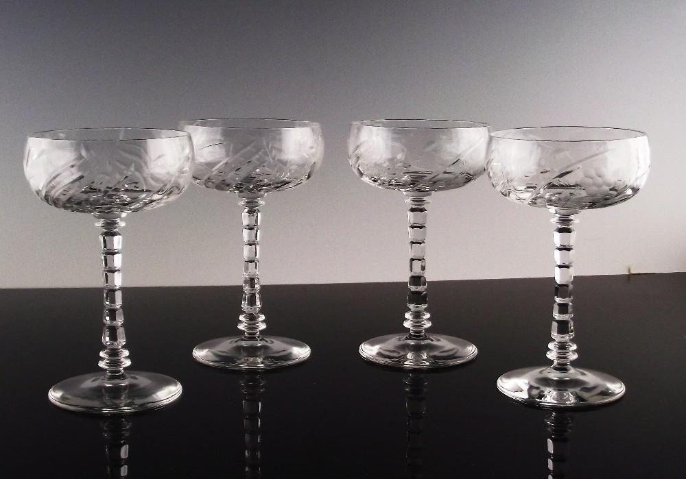 Alpine Champagne/Champagne Cocktail Glasses ca 1920's