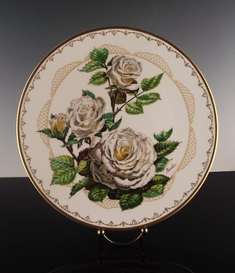 "Boehm Porcelain Collector's Plate ""White Lightnin"" ca 1982"