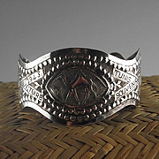 Sterling WWII Souvenir Bracelet from North Africa ca 1943