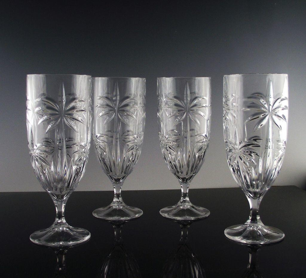 Palm Tea/Beverage Glasses by Godinger Crystal