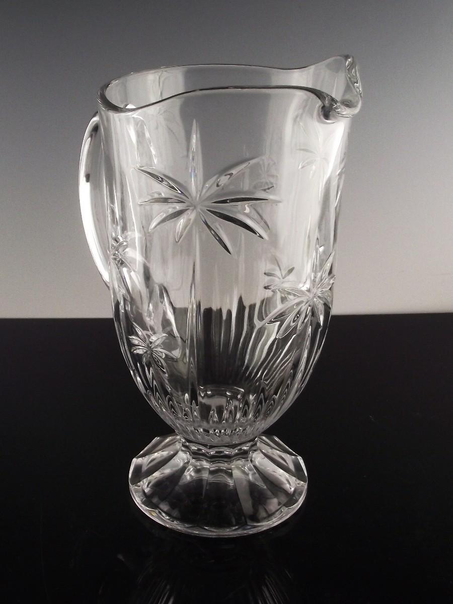 Palm Crystal Pitcher by Godinger Crystal