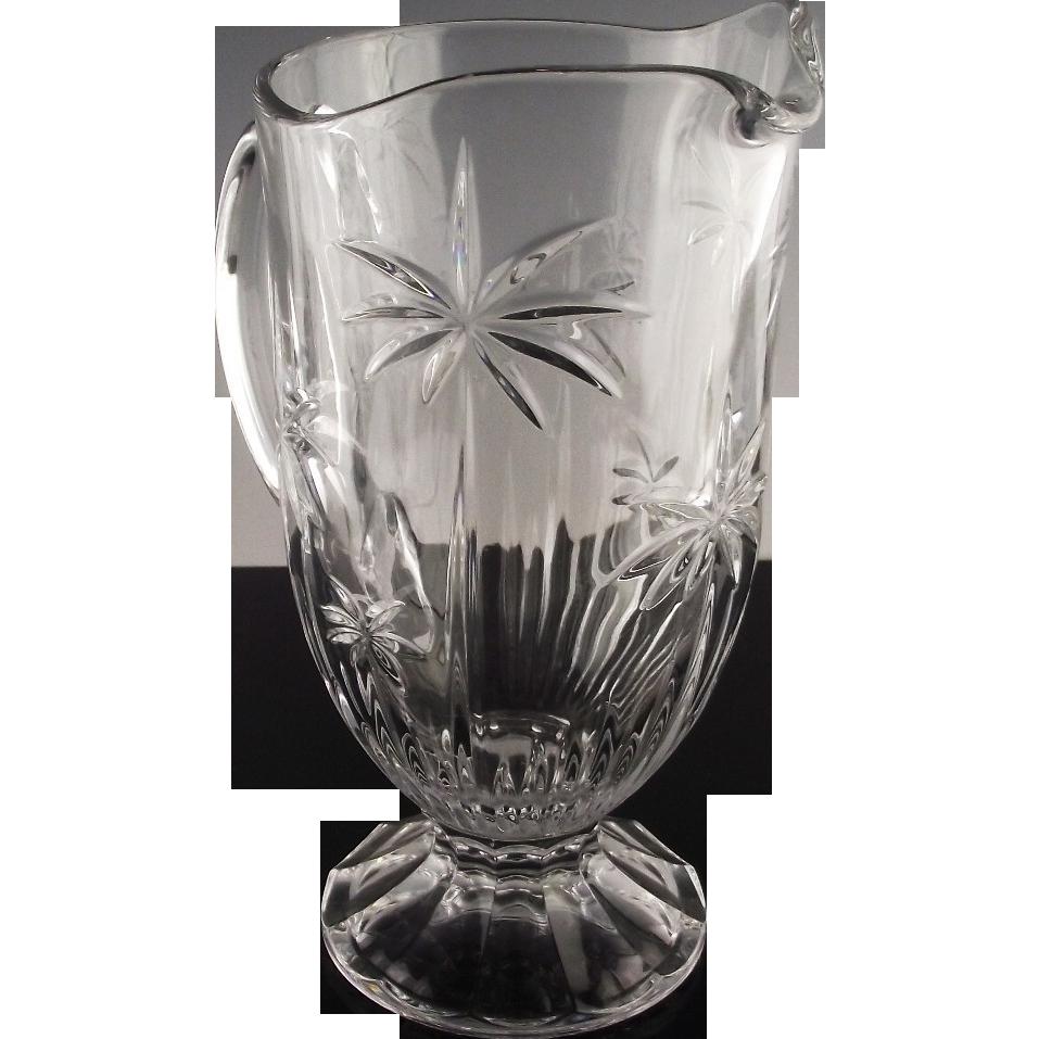 Palm Crystal Pitcher by Godinger Crystal