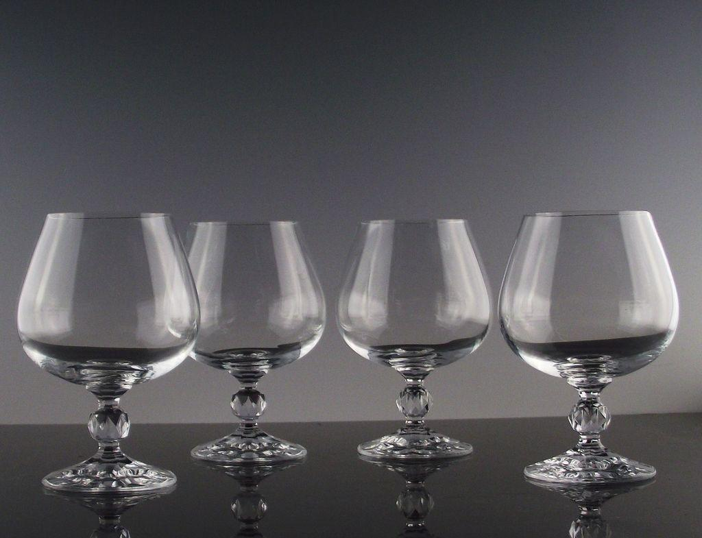 "Bohemian Crystal ""Claudia"" Brandy Snifters"