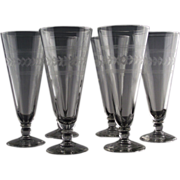Laurel Pilsners by Anchor Hocking ca 1950's-60's