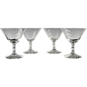 Cambridge Champagne/Sherbet Glasses in Caprice Pattern ca 1936-58