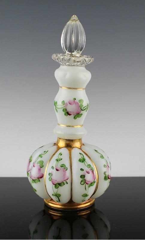 Fenton Charleton Melon Perfume Bottle ca 1943-1950's