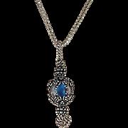 Sterling Grape Cover Boro Bead Necklace