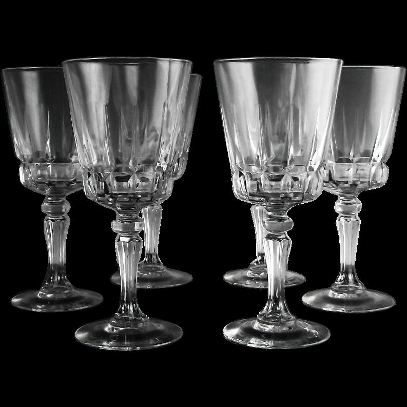 Crystal Claret Wine Glasses in Chantelle Pattern
