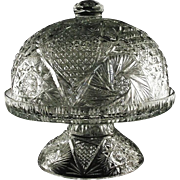 Extremely Rare American Brilliant Pedestal Covered Cake Dish