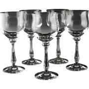 Water/Large Wine Glasses by Mikasa in Ardmore Pattern.