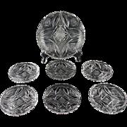 Complete Cut Crystal Dessert Set ca 1920-1930's