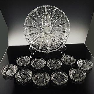 Cut Crystal BonBon/Petit Four Set ca 1930's