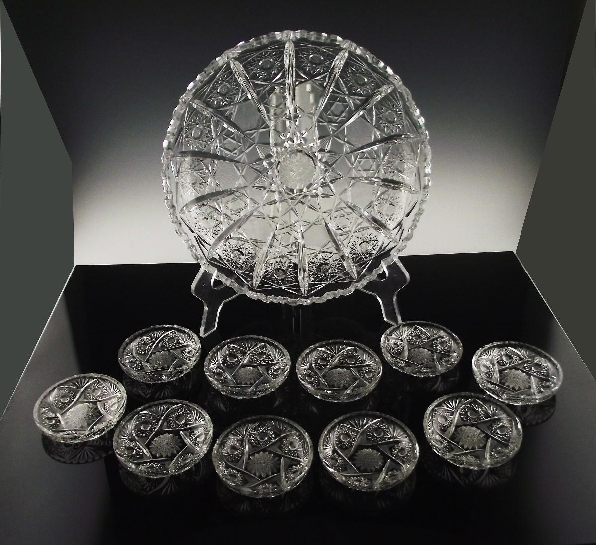 Cut Crystal BonBon/Petit Four Set ca 1930's