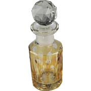 Honey Amber Cut To Clear Perfume Bottle