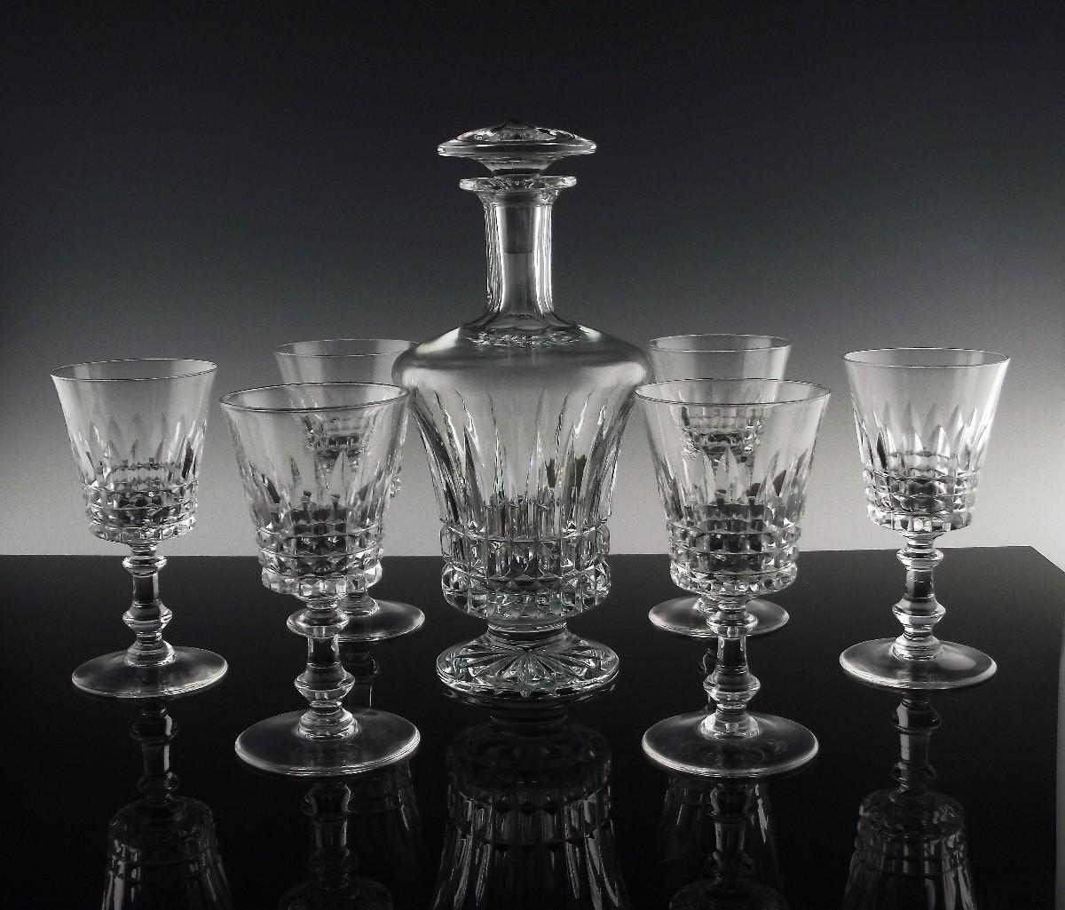 Val St. Lambert Esneux Port/Wine Set ca 1950-62