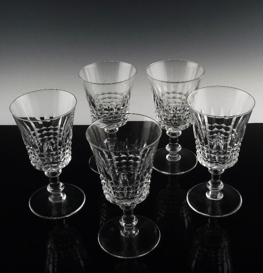 Val St. Lambert Esneux Water/Large Wine Goblets ca 1950-62