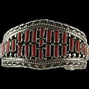 Navajo Natural Branch Coral Bracelet