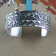 Navajo Bracelet Done In Hopi Style by Raymond Begay