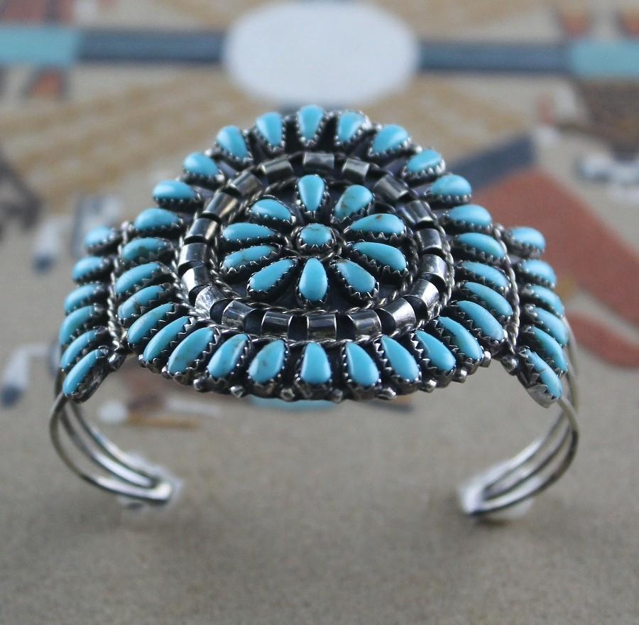Navajo Artist Mathilda Benally Petite Point Bracelet