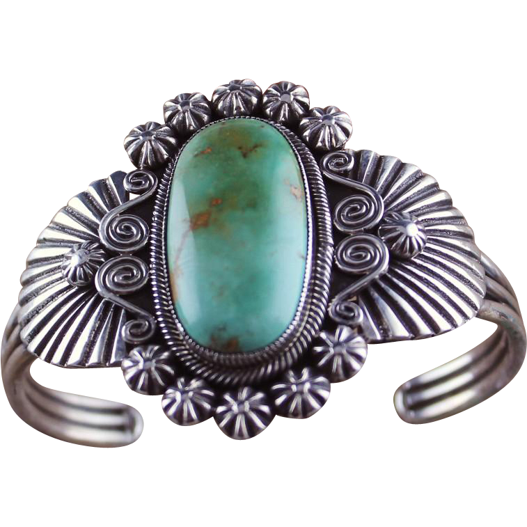 Navajo Artist Leon Martinez Royston Turquoise Bracelet