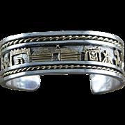 Sterling and Gold Fill Story Teller Bracelet