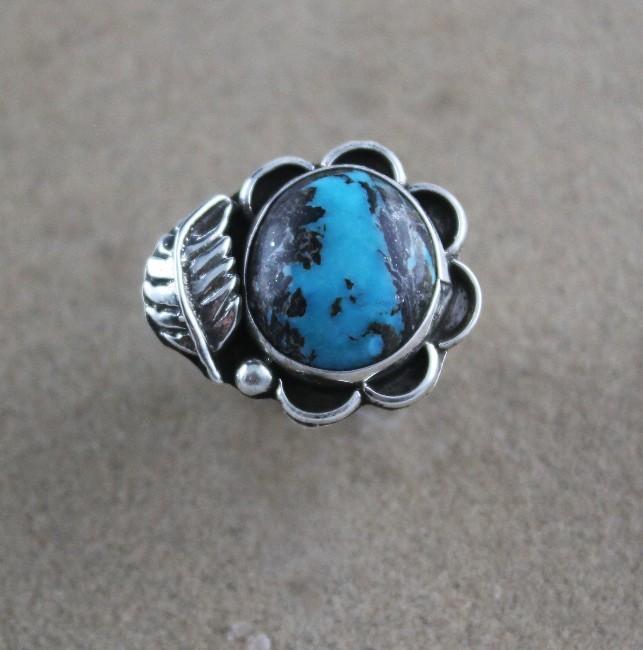Navajo Kingman Boulder Turquoise Ring
