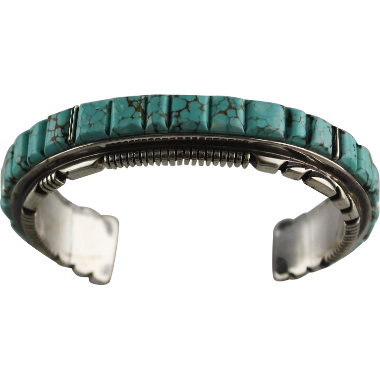Dramatic Turquoise and Sterling Bracelet